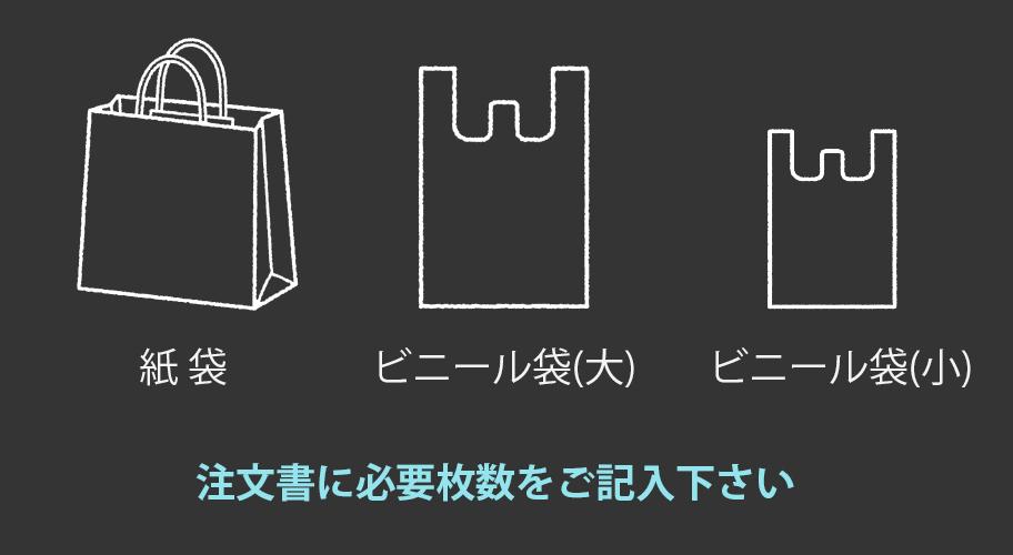 ビニール袋・紙袋が有料